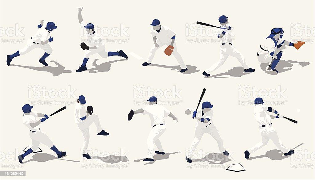 野球選手シルエット ベクターアートイラスト