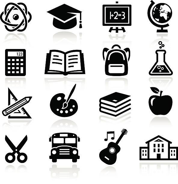 bildung symbole - hausfarbpaletten stock-grafiken, -clipart, -cartoons und -symbole