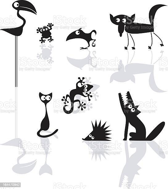 Several cartoon animals with reflections vector id164470942?b=1&k=6&m=164470942&s=612x612&h=jerr 8qhlxfft1ww3blsm3pomnzc9pjuy13xmq8mrog=