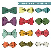Several colored  bow tie