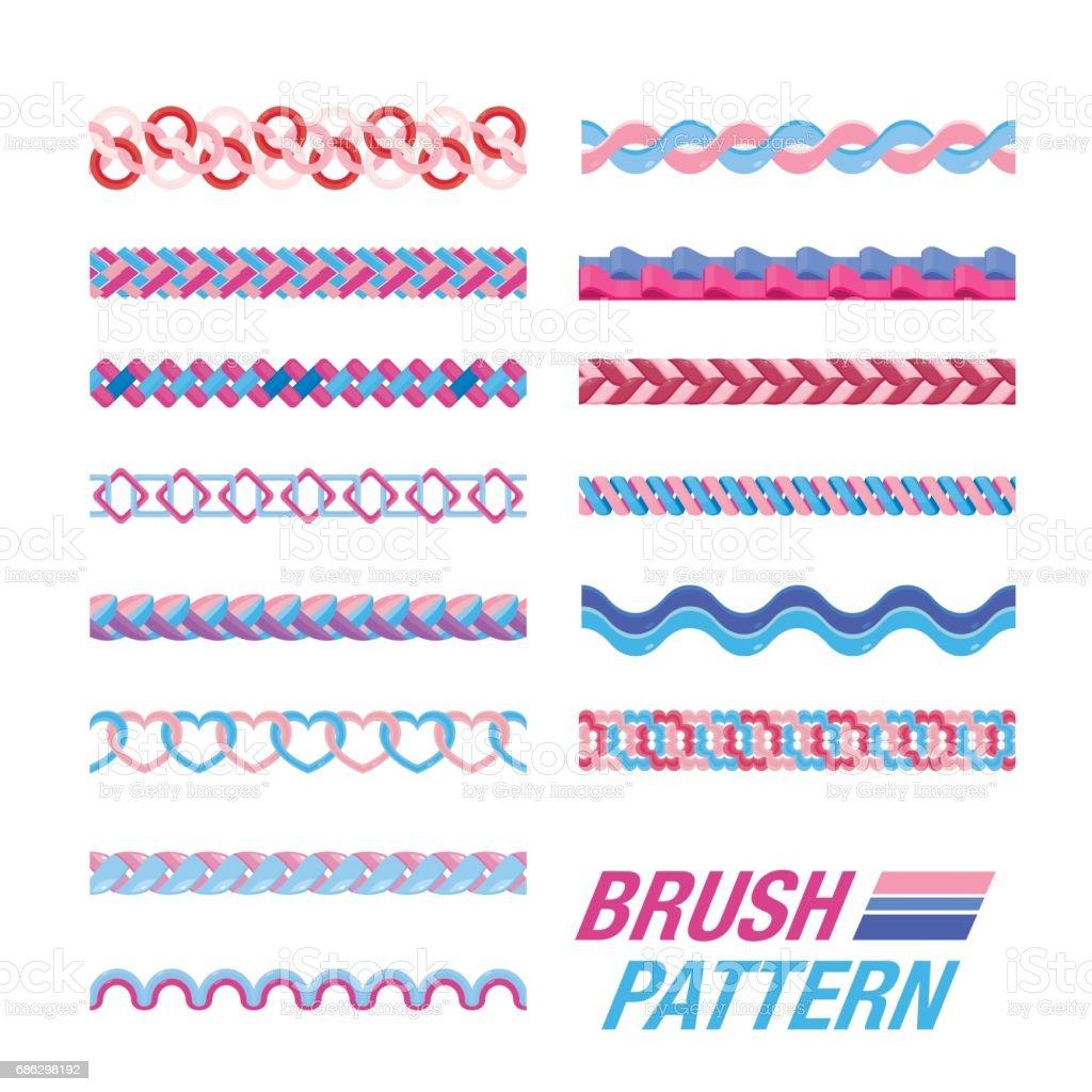 Several Line pattern. vector art illustration