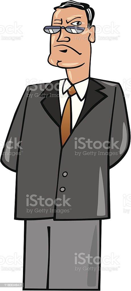 severe boss royalty-free stock vector art