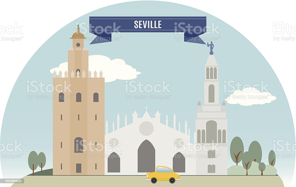 Seville royalty-free stock vector art