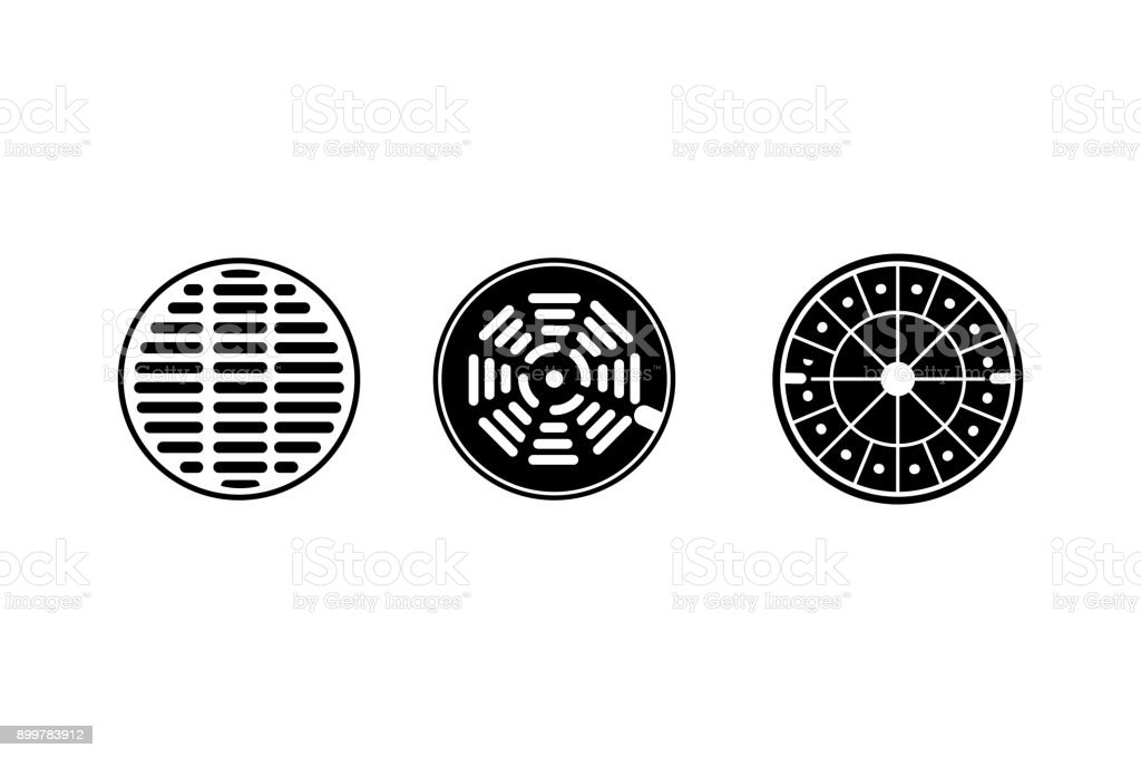 sewer icon vector art illustration