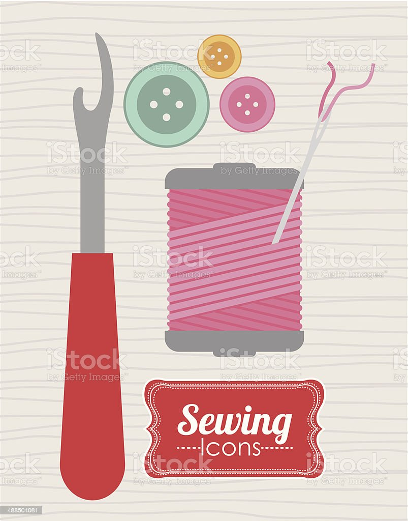 Sewing Design royalty-free sewing design stock vector art & more images of art and craft