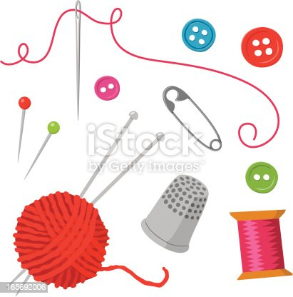 istock Sewing elements 165692006