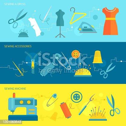 istock sewing equipment banner flat 1201063543