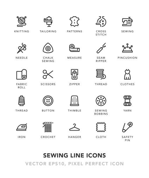 縫紉線圖示 - 紡織品 幅插畫檔、美工圖案、卡通及圖標