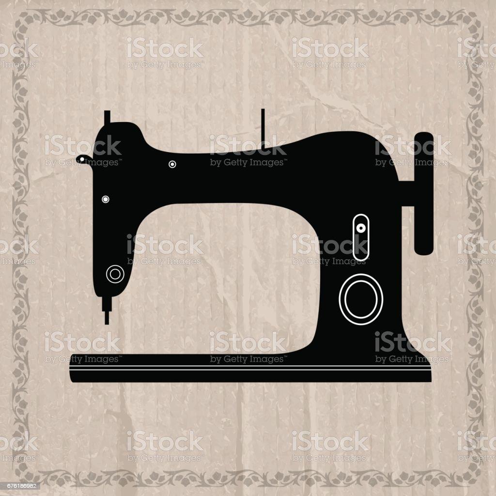 Ilustración de Diseño Retro De La Máquina De Coser Fondo De Pantalla ...