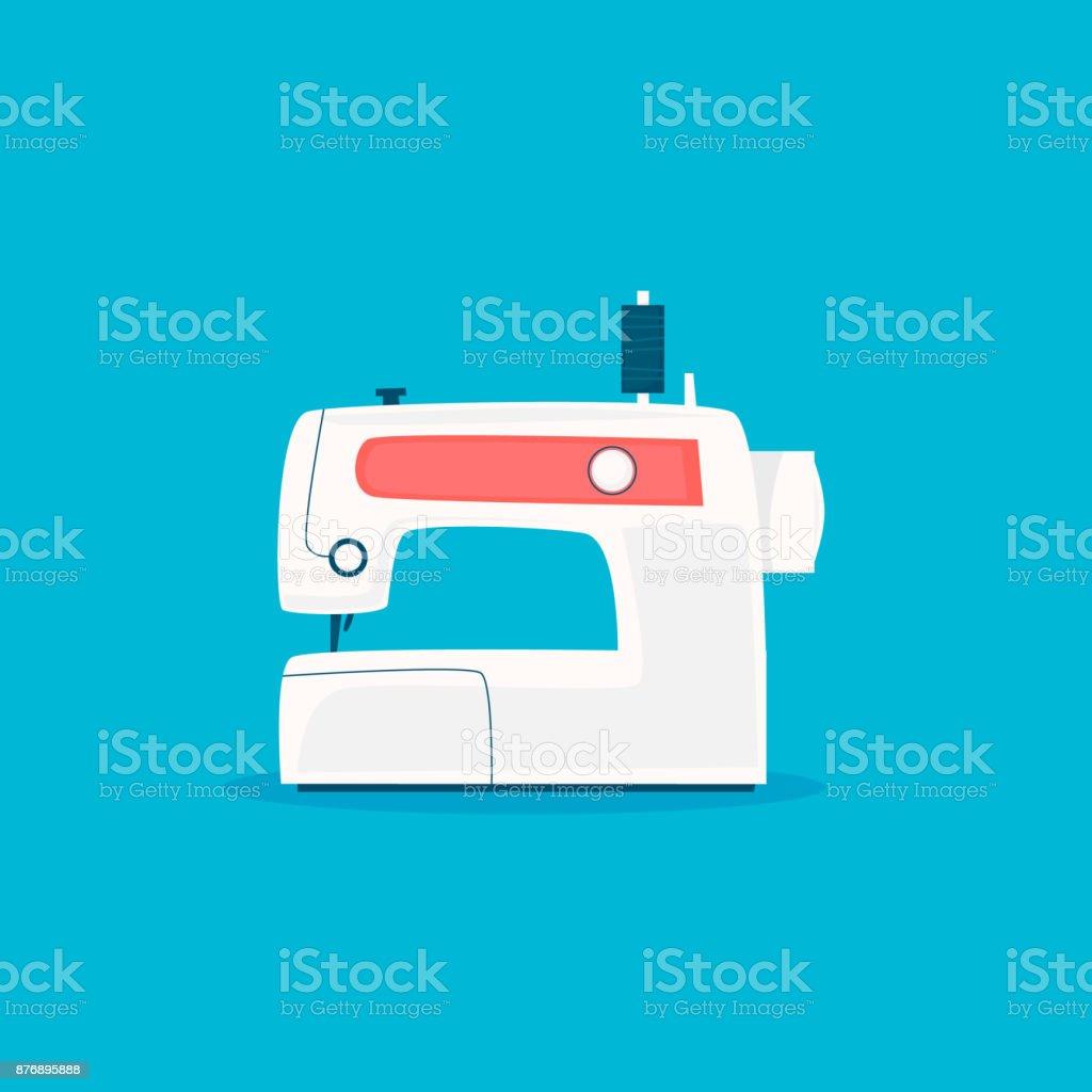 Nähmaschine. Flaches Design-Vektor-Illustration. – Vektorgrafik
