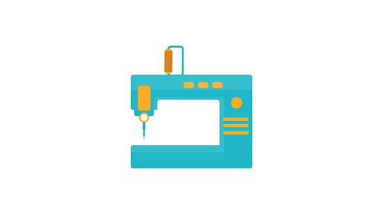 Sewing machine flat Icon
