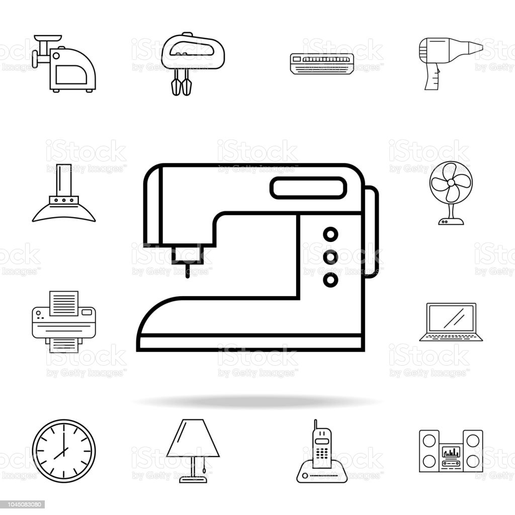 Sewing Machine Icon Appliances Icons Universal Set For Web And Diagram Of Mobile Royalty Free