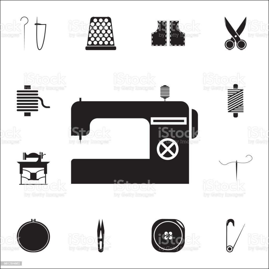 Sewing machine icon. Detailed set of Handmade icons. Premium quality graphic design sign. One of the collection icons for websites, web design, mobile app vector art illustration