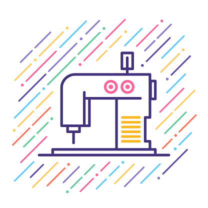Sewing Machine Line Icon
