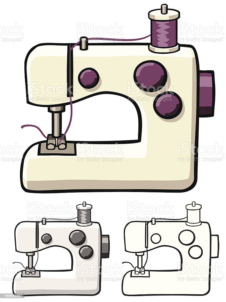 Sewing machine stock vector art more images of art and for Arts and crafts sewing machine
