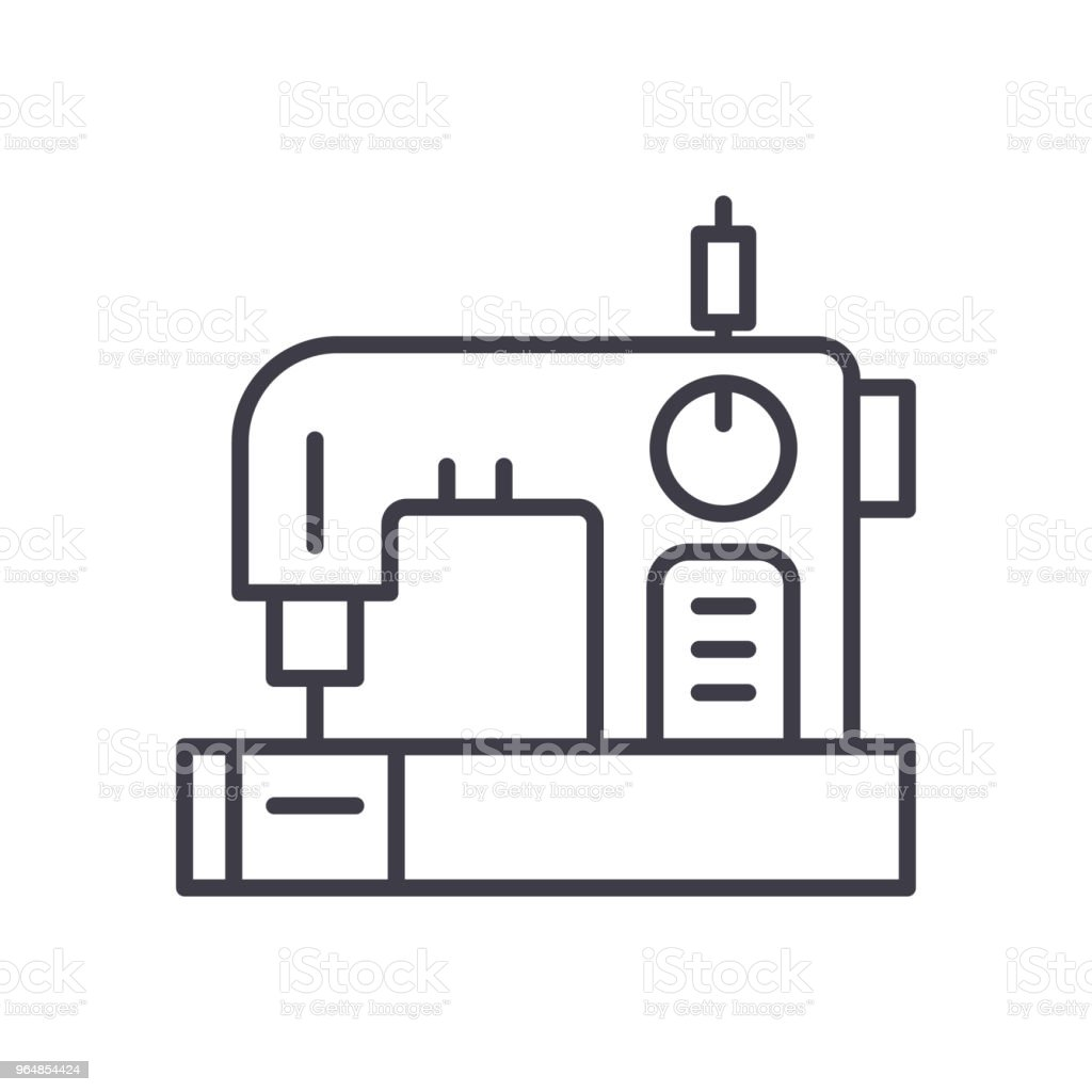Sewing Of Clothes Black Icon Concept Sewing Of Clothes Flat Vector