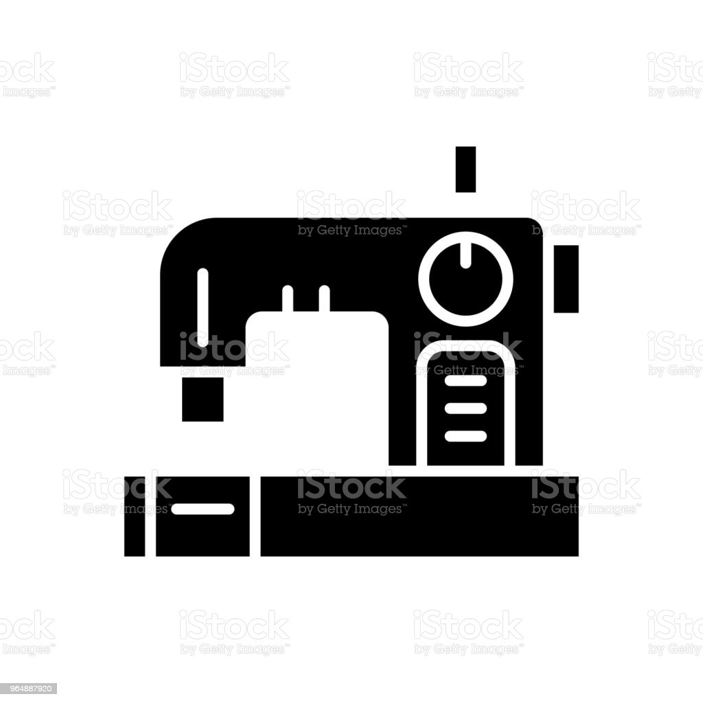 Sewing of clothes black icon concept. Sewing of clothes flat  vector symbol, sign, illustration. royalty-free sewing of clothes black icon concept sewing of clothes flat vector symbol sign illustration stock vector art & more images of adhesive tape