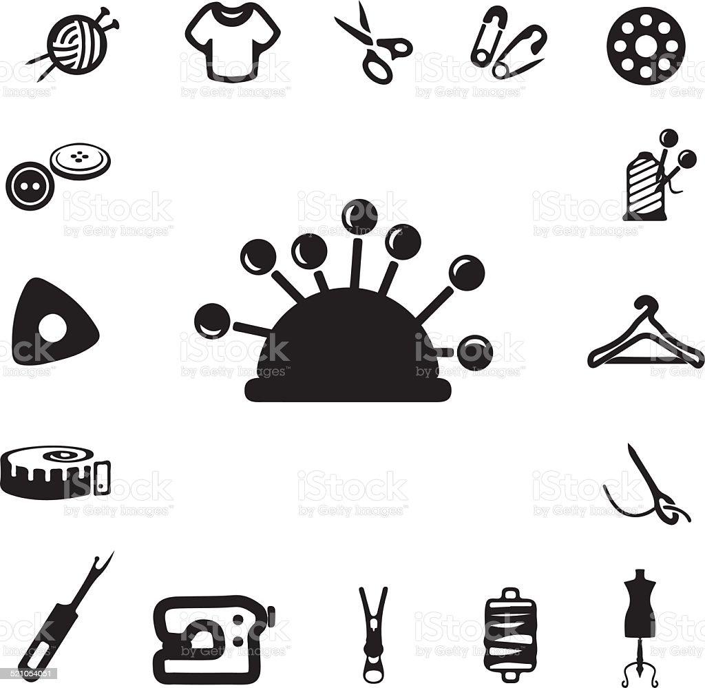 Nähen Silhouette Icons – Vektorgrafik