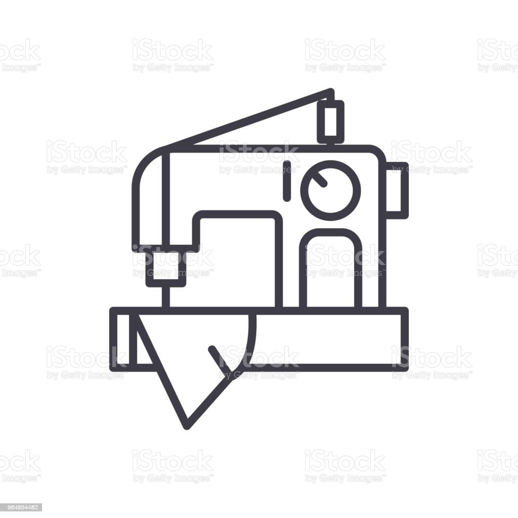 Sewing work black icon concept. Sewing work flat  vector symbol, sign, illustration. royalty-free sewing work black icon concept sewing work flat vector symbol sign illustration stock vector art & more images of art