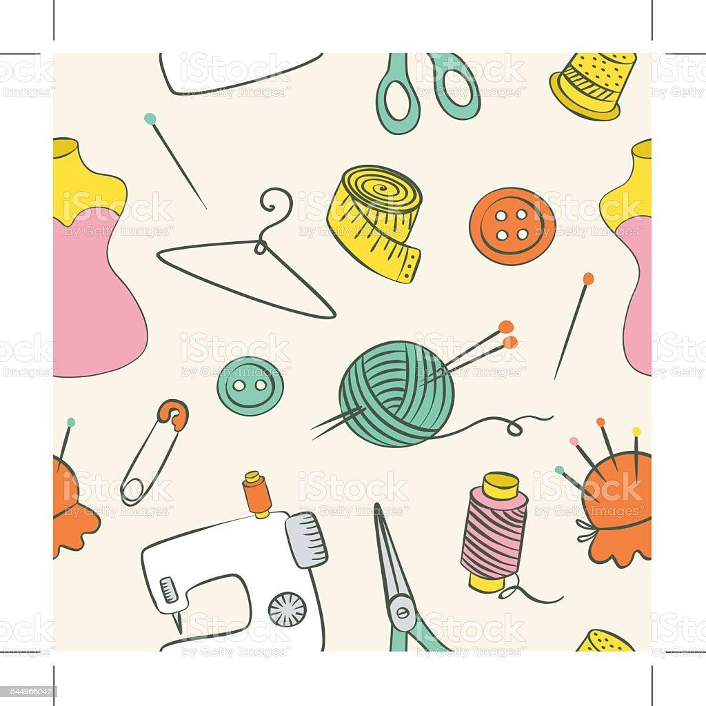Ilustración de Textura De Tejer Patrón Continuo De La Mano Con El ...