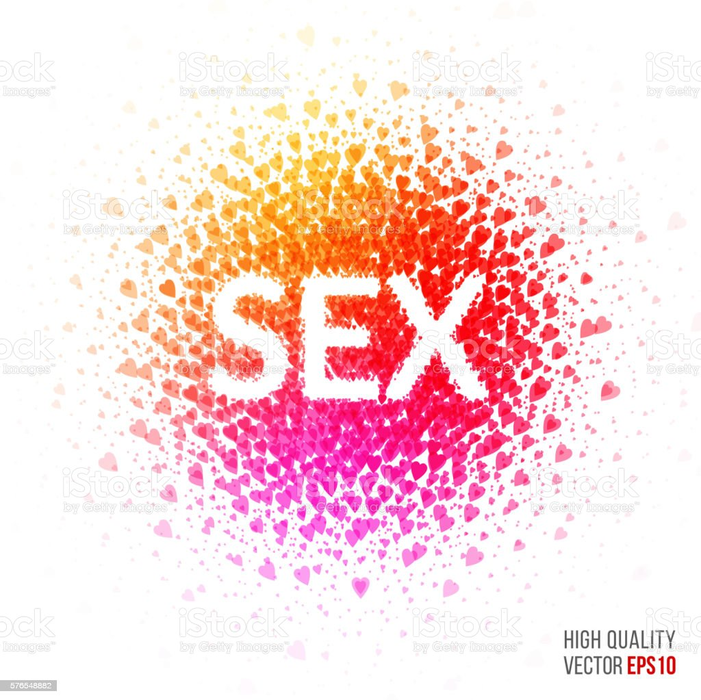 Sex Beautiful Design Element For Greeting Card Template Layout Stock