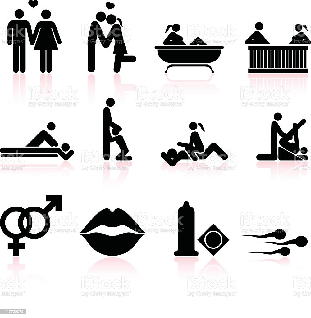 sex black and white royalty free vector icon set vector art illustration