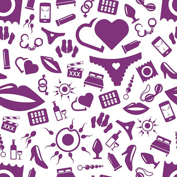 sex seamless pattern vector art illustration