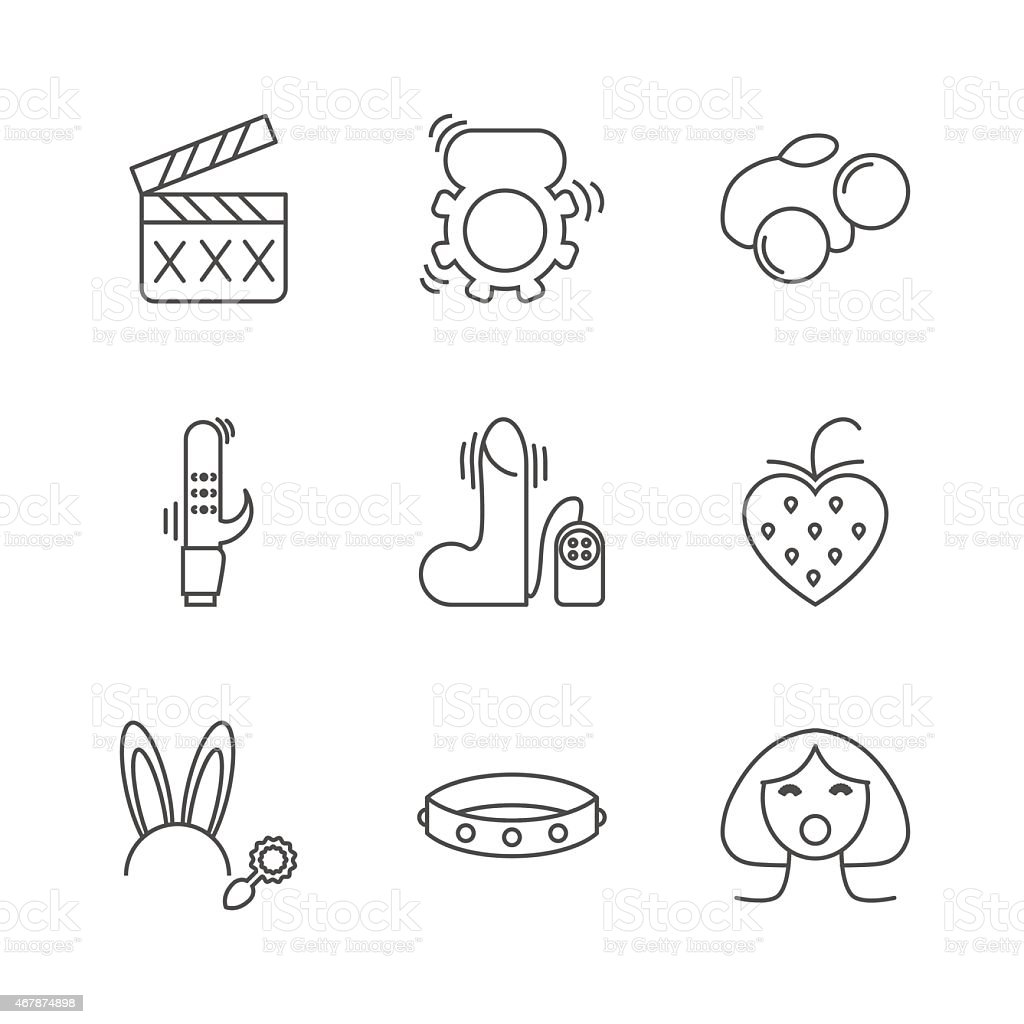 Sex shop icons vector art illustration