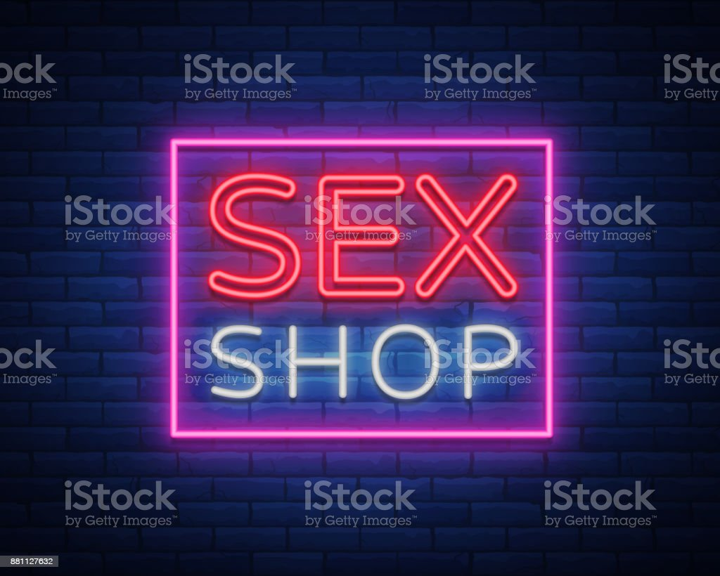 Sex shop night sign in neon style neon sign a symbol for sex shop sex shop night sign in neon style neon sign a symbol for sex biocorpaavc