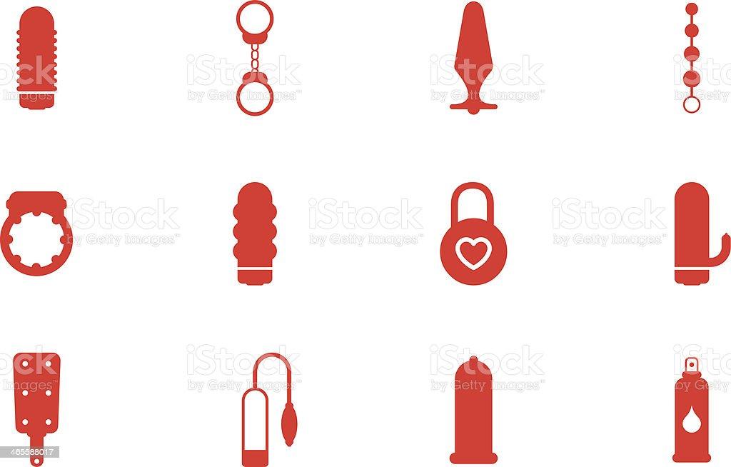 Sex Toys vector art illustration
