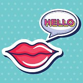 sexi woman lips icon vector illustration design