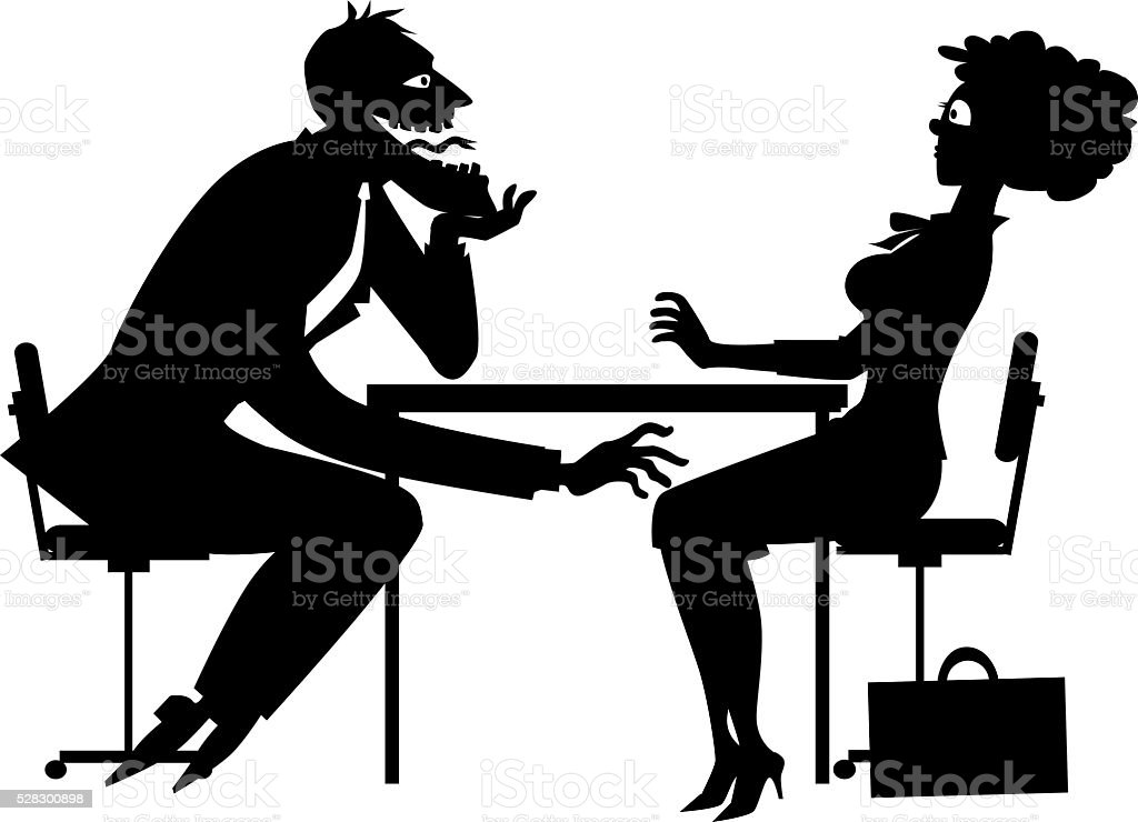 Sexual harassment clipart vector art illustration