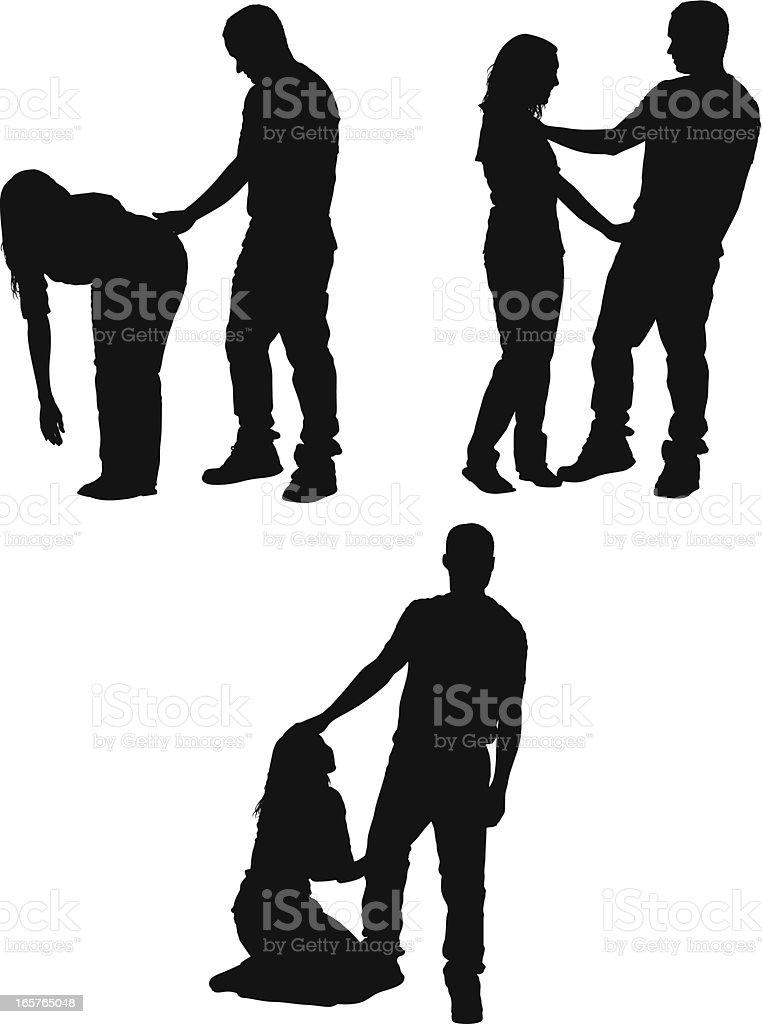 Sexual harassment vector art illustration