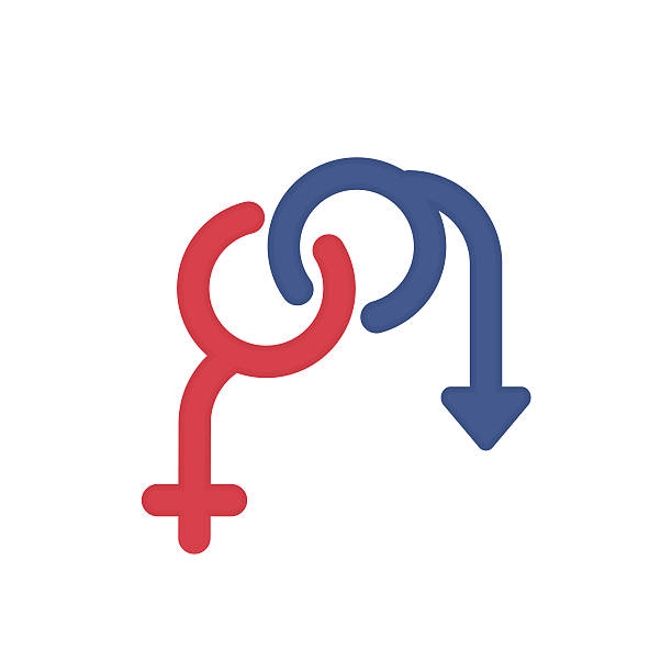 Sexual problems vector logo on white – Vektorgrafik