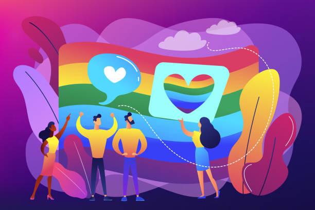 ilustrações, clipart, desenhos animados e ícones de conceito da sexualidade e da identidade do género ilustração do vetor. - lgbt