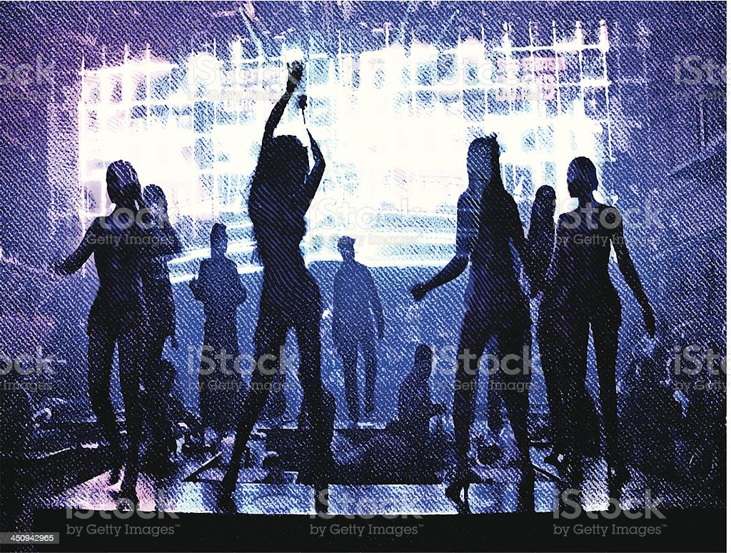 Sexy Dancers royalty-free stock vector art