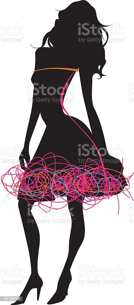 sexy fashion silhouette royalty-free stock vector art