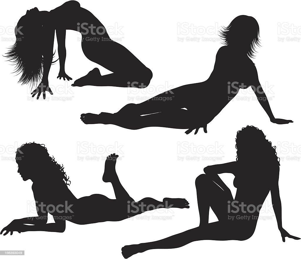 Sexy females royalty-free stock vector art