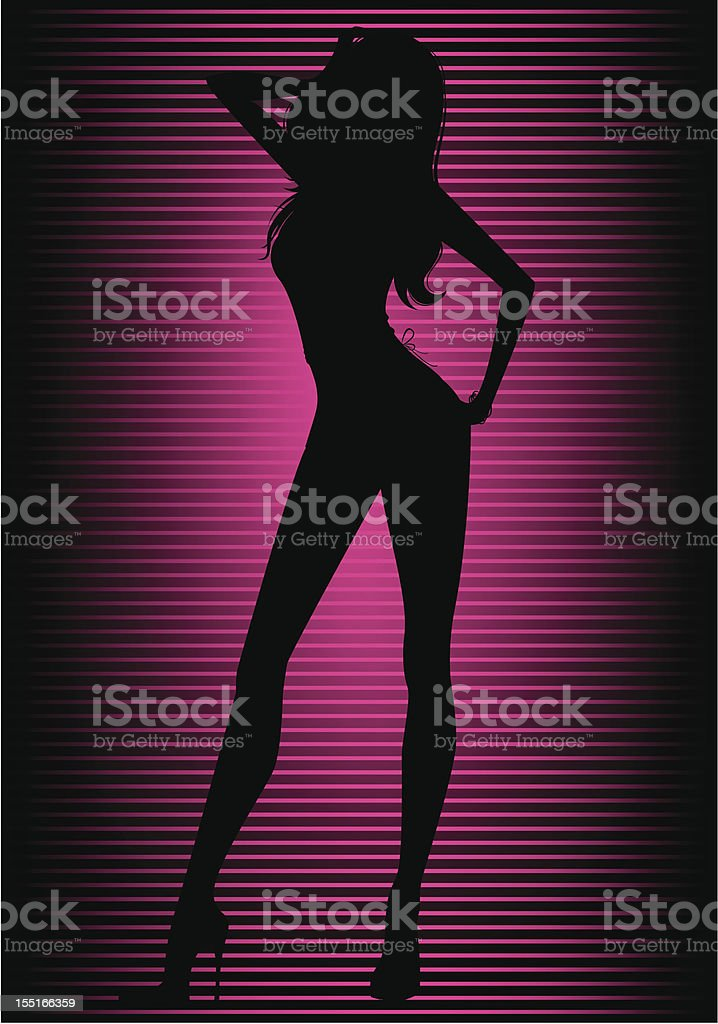 Sexy girl vector art illustration