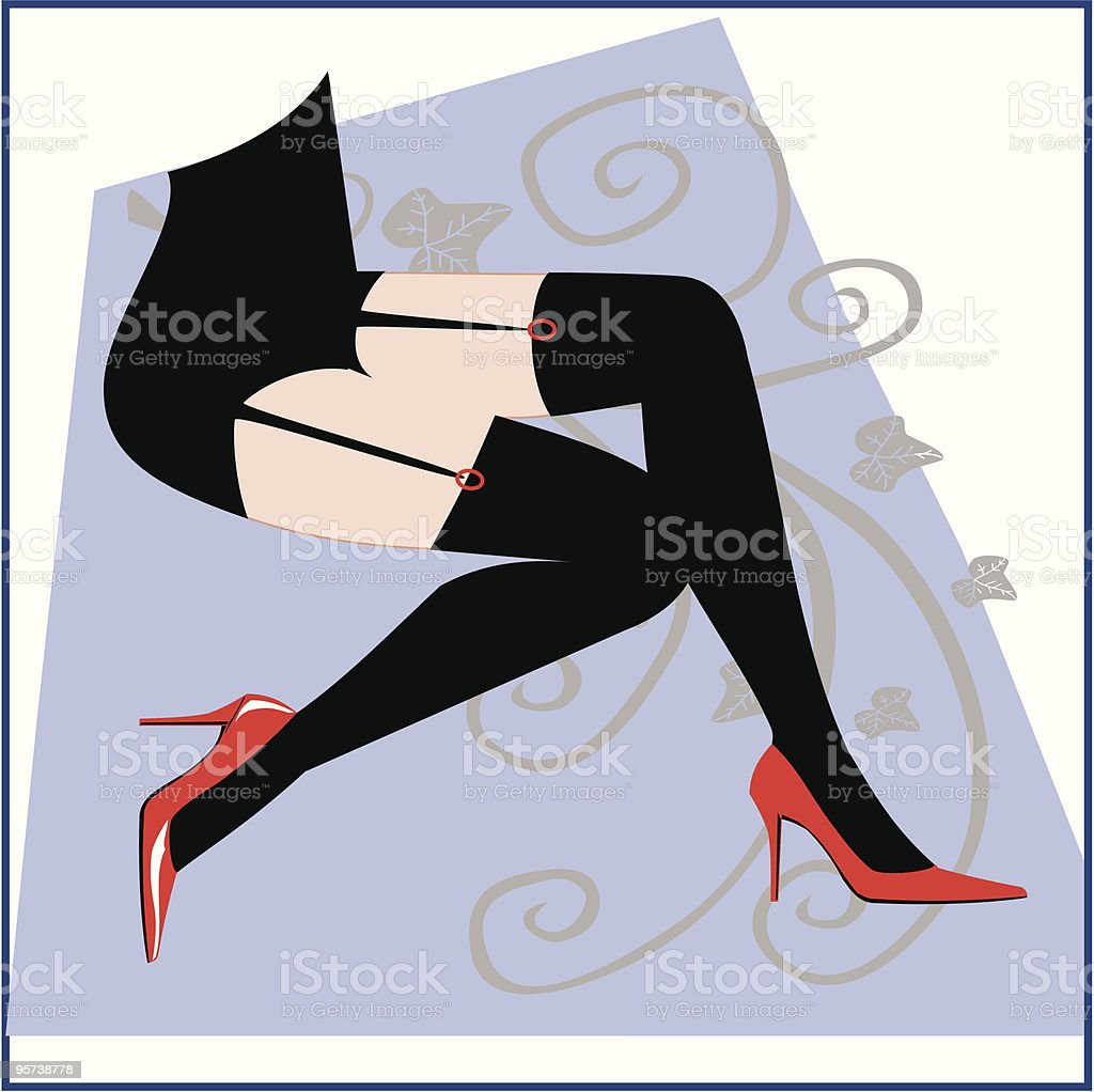Sexy Legs vector art illustration