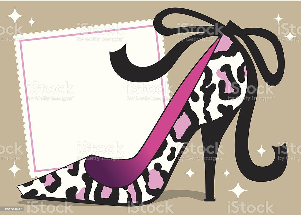 Sexy Leopard Stiletto Background royalty-free stock vector art