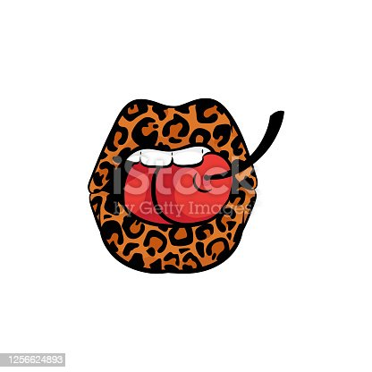 Free Leopard Print Lip Clipart In Ai Svg Eps Or Psd