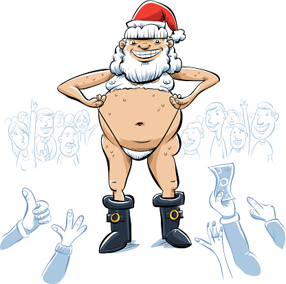 Sexy Stripper Santa