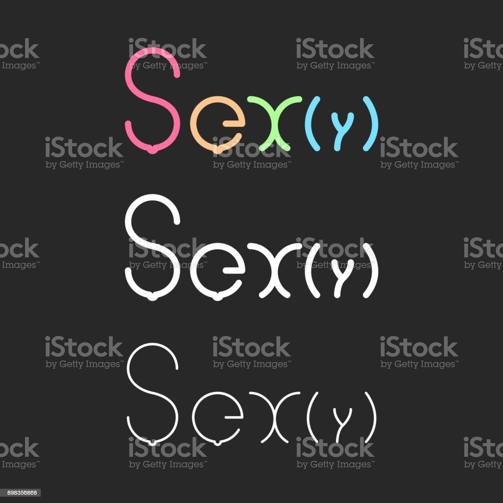 Sexy - Typography Series royalty-free stock vector art