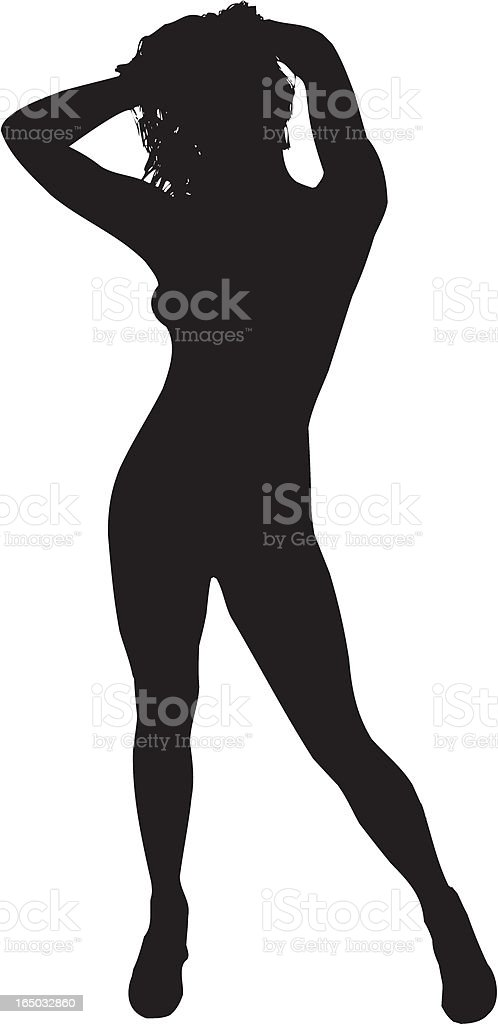 Sexy Woman Silhouette vector art illustration