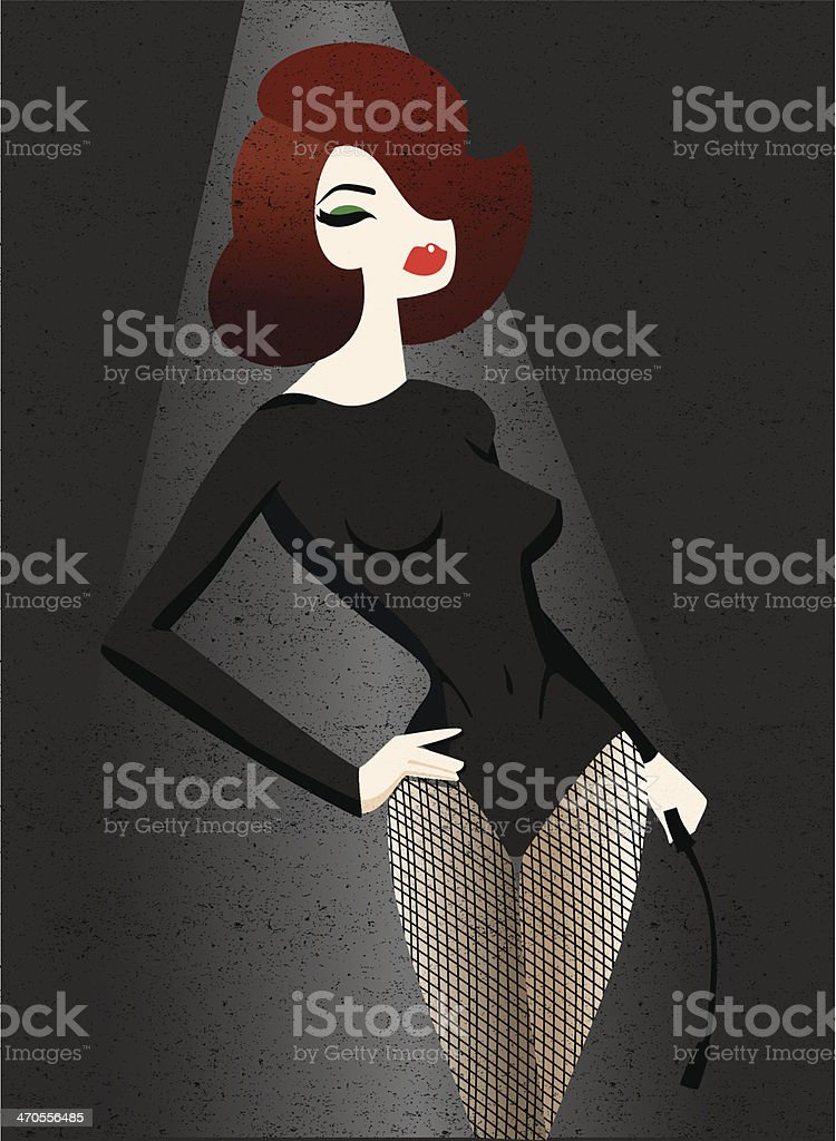 Sexy Woman vector art illustration
