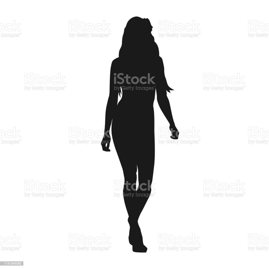 Sexy Woman Walking Forward Isolated Vector Silhouette Fashion Model Catwalk Stock Illustration Download Image Now Istock