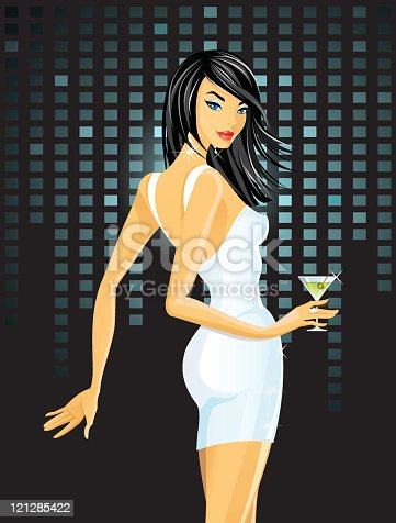 istock Sexy woman with cocktail 121285422