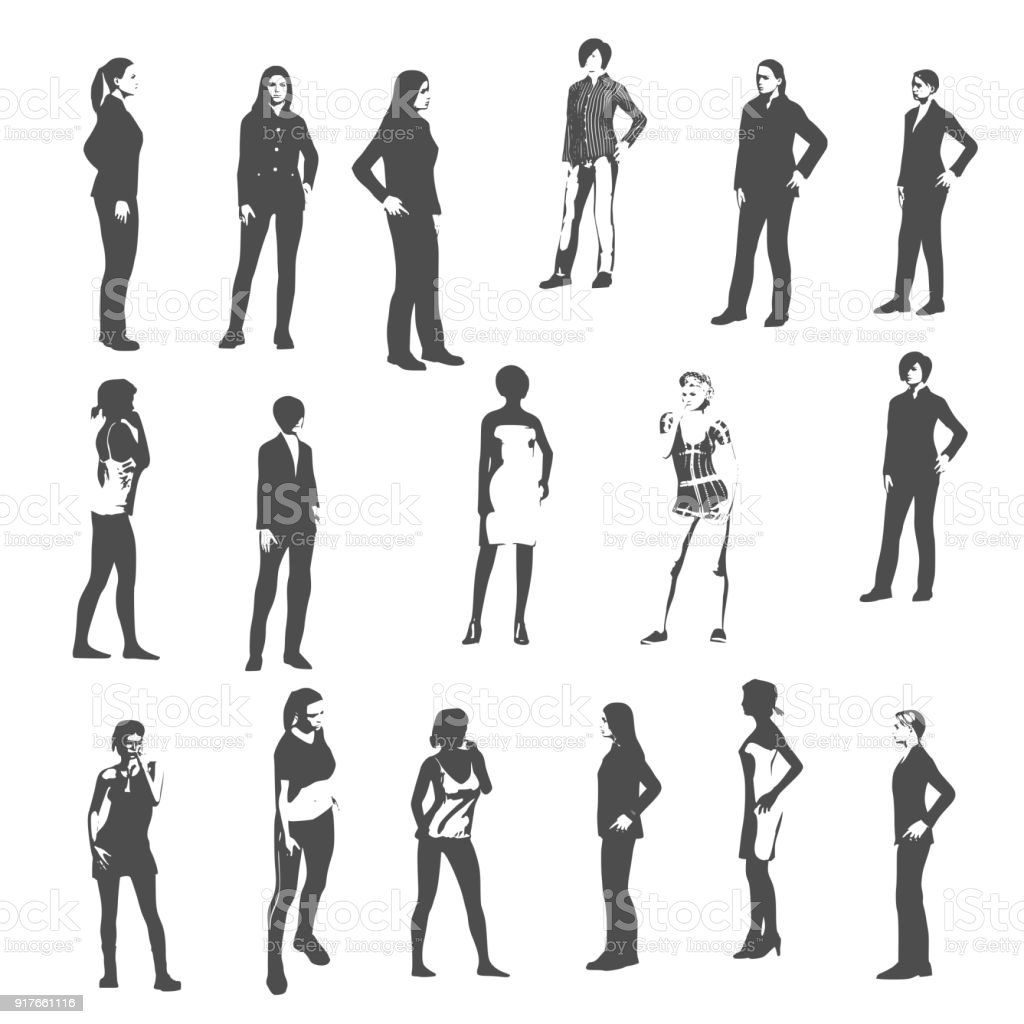 Sexy Women Silhouette Stock Vector Art More Images Of Adult