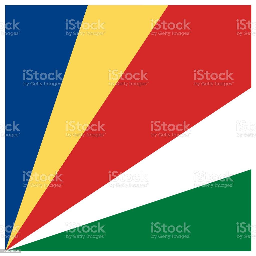 Seychelles flag vector art illustration